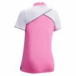 Callaway SS 1/4 Zip Color Block Polo-Fuschia Pink