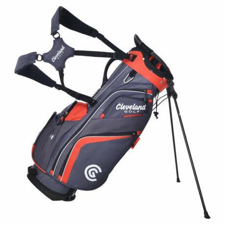 Cleveland Saturday Stand Bag Charcoal/Red