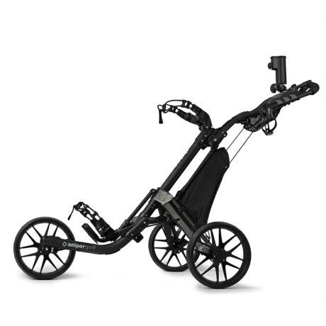 Sniper Golf 3-Wheel Trolley Silver