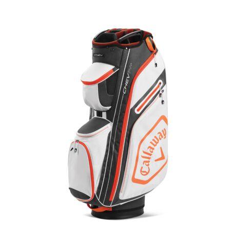 Callaway Chev 14+ Cart Bag White/Charcoal/Orange