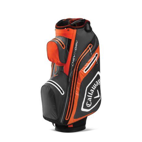 Callaway Chev Dry 14 Cart Bag Charcoal/Orange/White