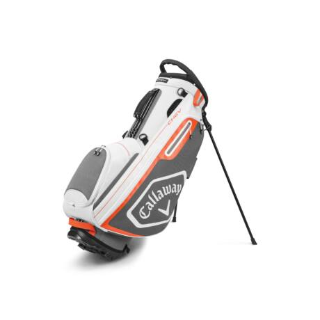 Callaway Chev Stand Bag White/Charcoal/Orange