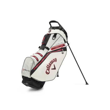 Callaway Hyper Dry 14 Stand Bag Stone/Black/Red
