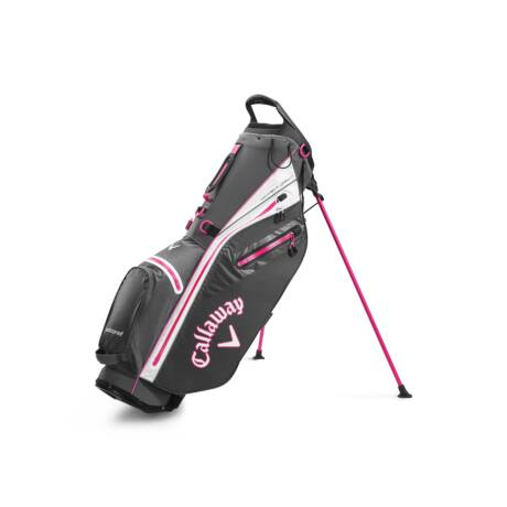 Callaway Hyper Dry C Stand Bag Charcoal/White/Pink
