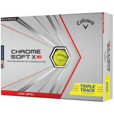 Callaway Chrome Soft X LS Sárga Triple Track Golf Labda