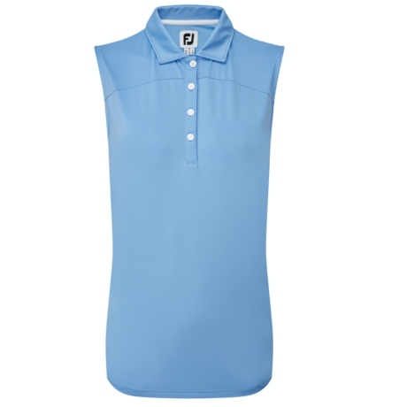 FOOTJOY SOLID SLEEVELESS LISLE BLUE JAY