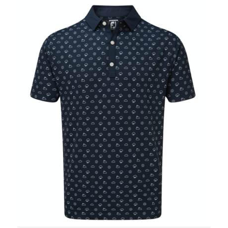 FOOTJOY SMOOTH PIQUE WEATHER PRINT NAVY