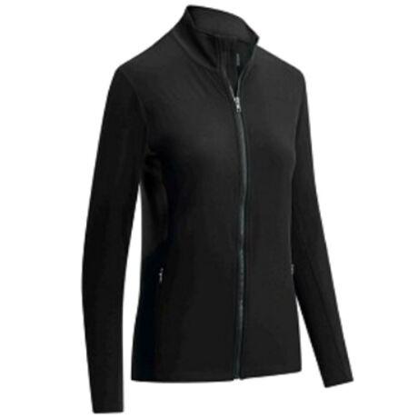 Ladies Panelled Fleece Jacket Caviar