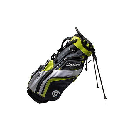 Cleveland Saturday Stand Bag Charcoal/Lime/White