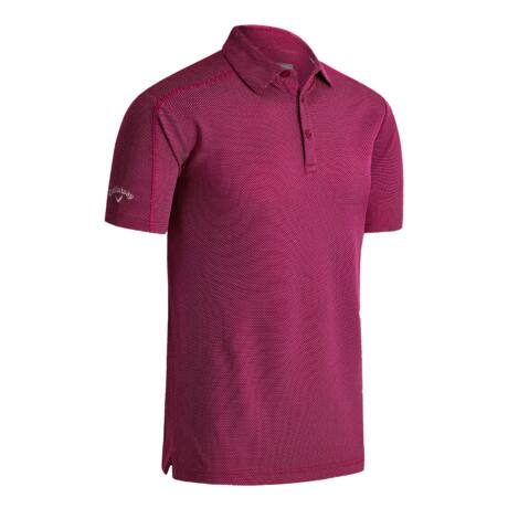 Callaway Box Jaquard Polo BOUDOIR RED