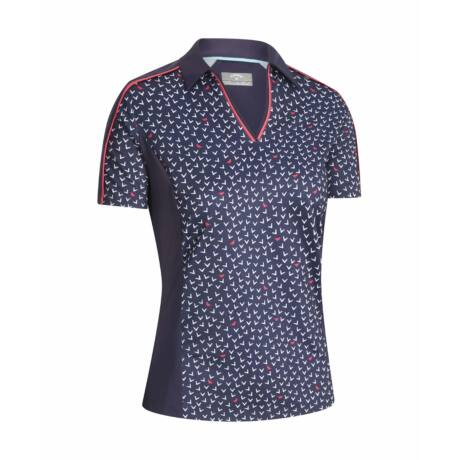 CALLAWAY ALL OVER CHEV BIRDIE PRINTED POLO