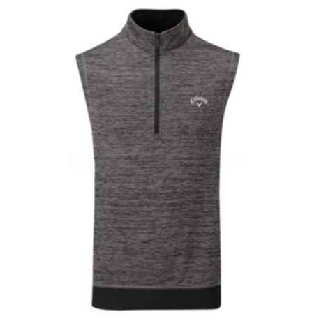 Callaway Heathered Water Repellent 1/4 Zip Golf Vest GREY