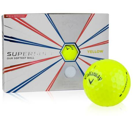 Callaway SuperSoft Yellow Golf Labda