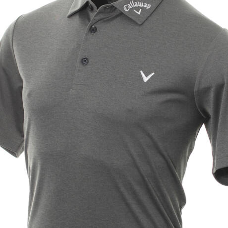 Odyssey Birdseye Polo Black Heather