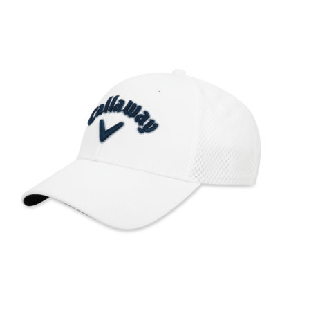Callaway Mesh Fitted Cap White Navy