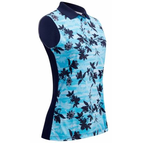 Callaway Honey Comb Floral Top-Peocoat