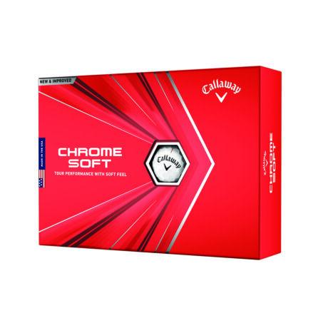 Callaway Chrome Soft 2020 White Golf Labda