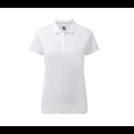 Footjoy Stretch Pique Solid Női Golfpóló White