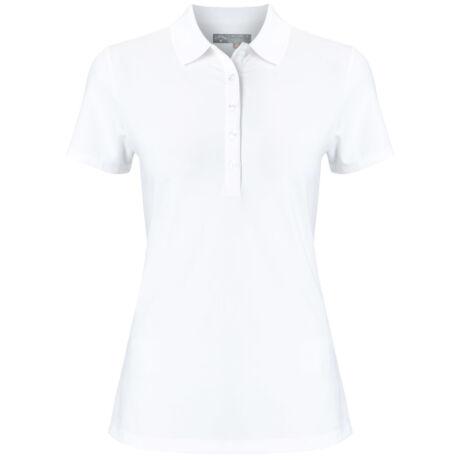 Callaway Ladies Micro Hex Polo - Bright White