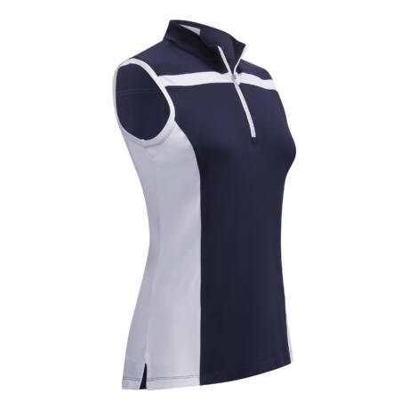 Callaway Ladies 3 Colour Block Sleeveless Polo