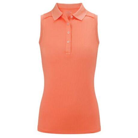 Callaway Ladies Opti Stretch Sleeveless Polo - Peach Pearl
