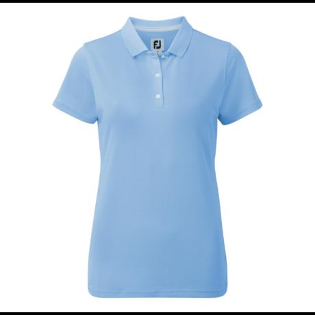 FootJoy Stretch Pique Solid Shirts Women Light Blue