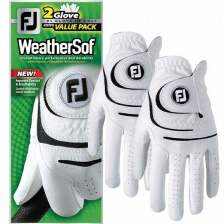 FootJoy WeatherSof 2 gloves value pack (two left) műbőr golf kesztyű