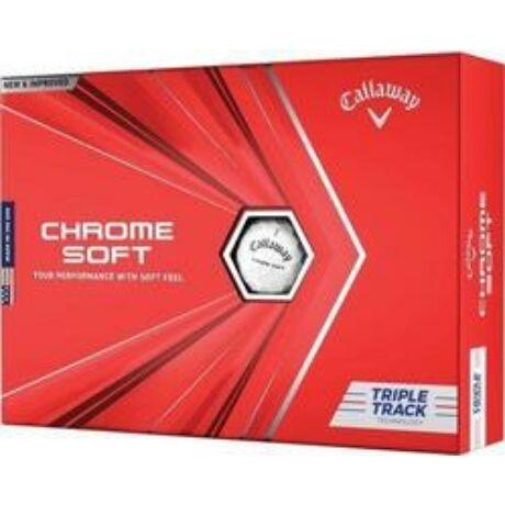 Callaway Chrome Soft 2020 Triple Track White Golf Labda